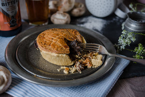 Steak, Stonehouse Ale & Roasted Mushroom Pie