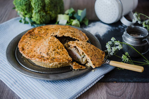 GLUTEN FREE Chicken, Broccoli & Leek Pie