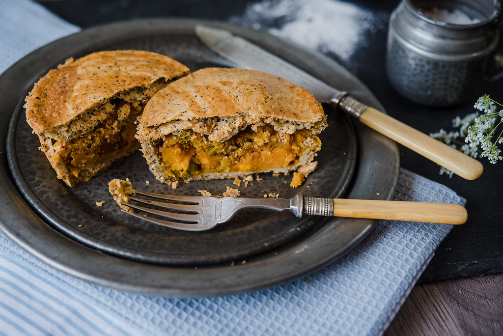 GLUTEN FREE Sweet Potato, Pea & Paneer Pie (v)