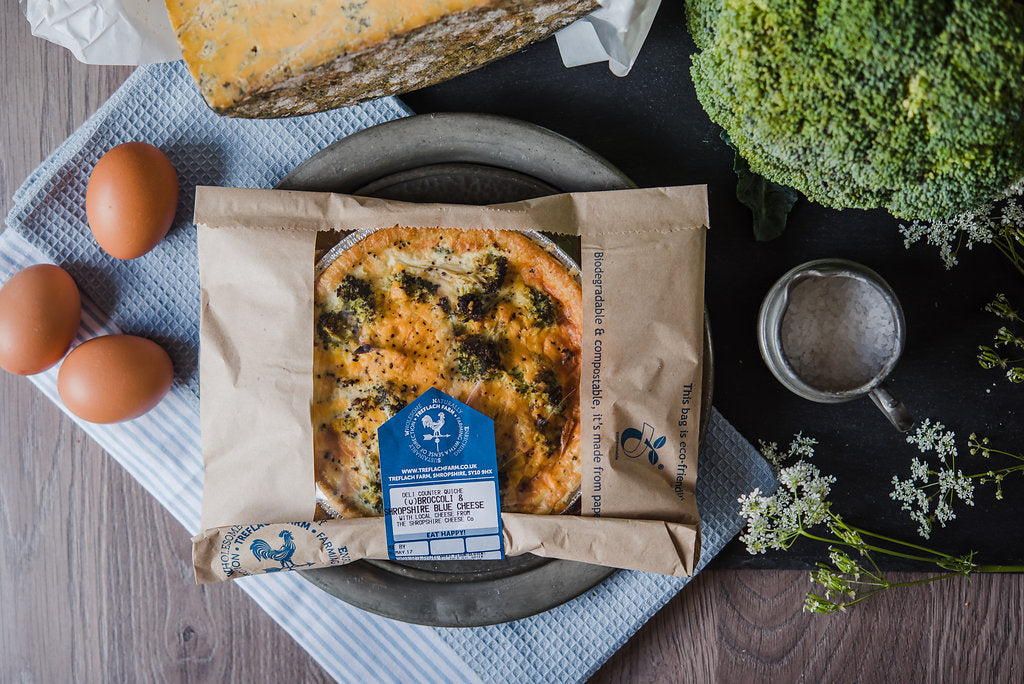Broccoli & Blue Cheese Quiche (v)