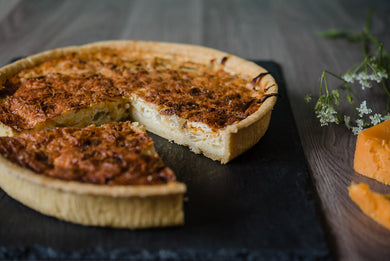 Onion & Organic Cheese Quiche (v)
