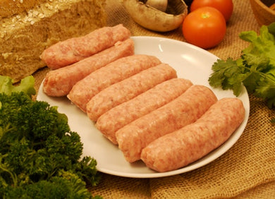 6 x Free Range Plain Pork Sausages