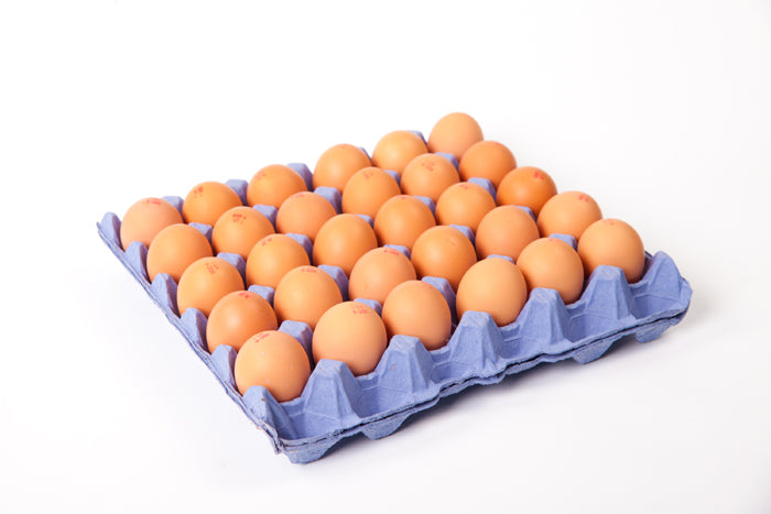Tray of Free Range Eggs of Different Sizes