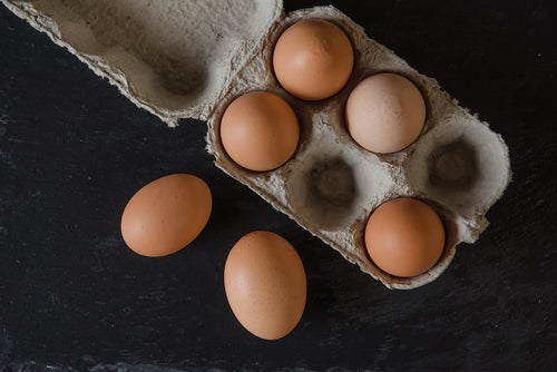 6 x Organic Eggs of Different Sizes from Wackley Brook Farm