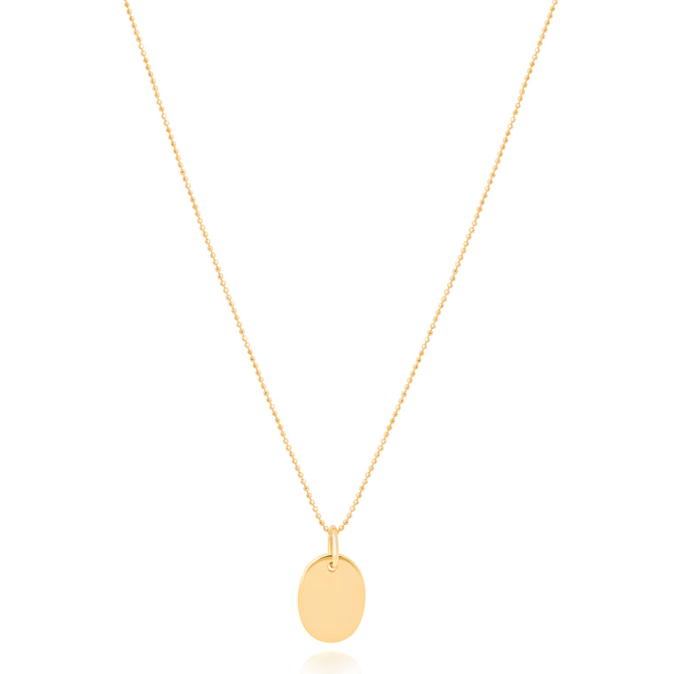 Astrid & Miyu - Basic 2.0 Oval Pendant Necklace - Gold