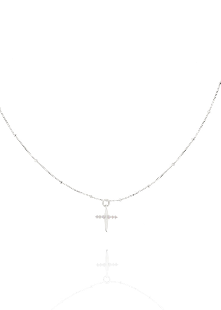 Astrid & Miyu - Mystic Cross Necklace - Silver