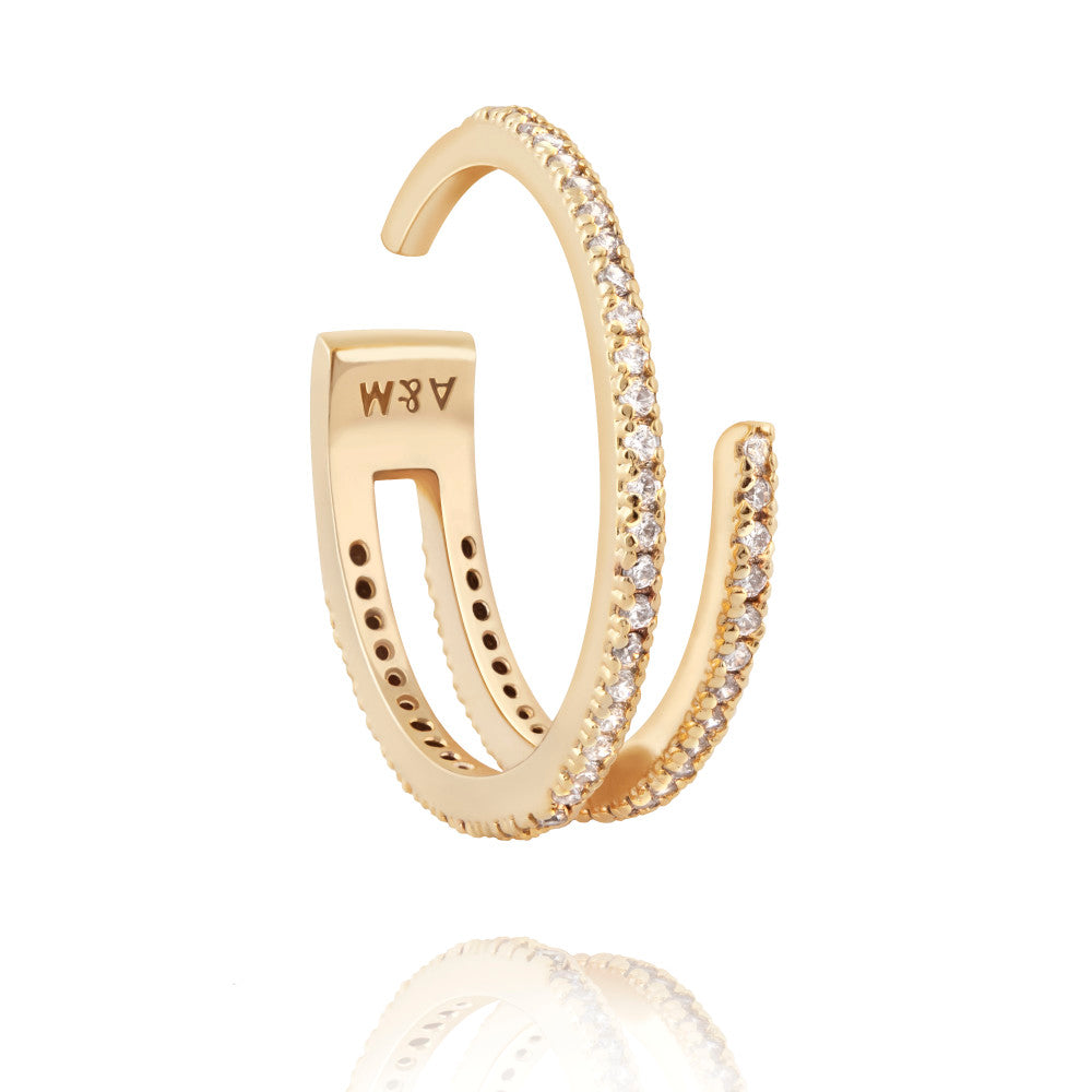 Astrid & Miyu - Wishbone Ring- Gold