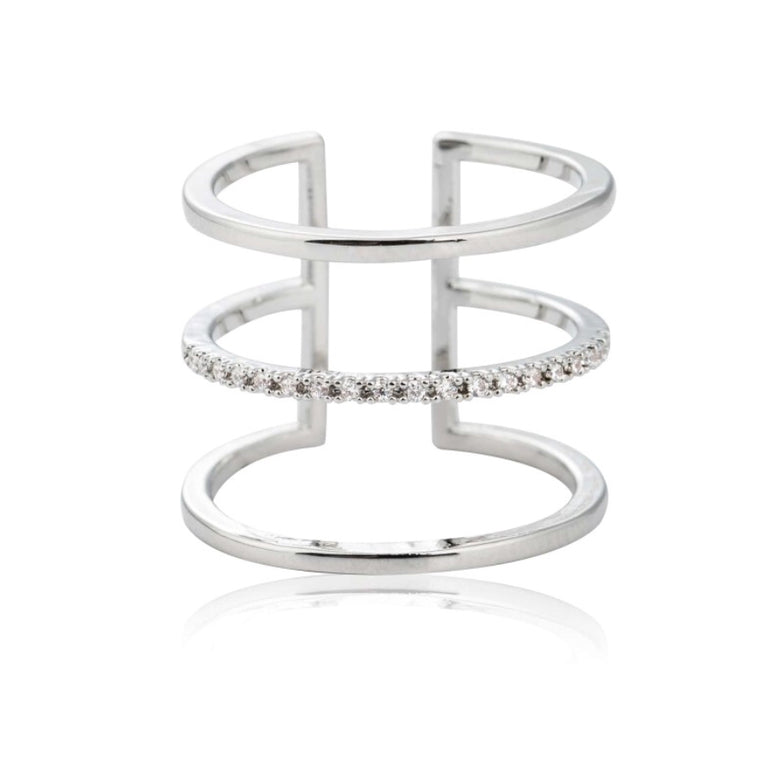 Astrid & Miyu - Triple Bewitched Ring - Silver