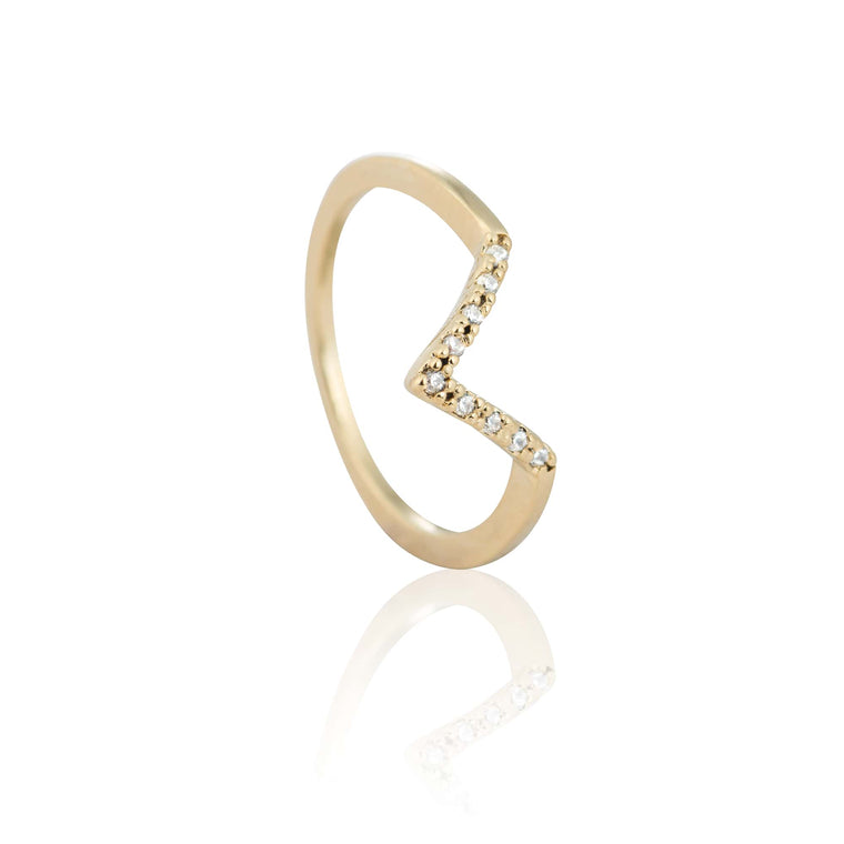 Astrid & Miyu - Nightlife Triangle Midi Ring - Gold