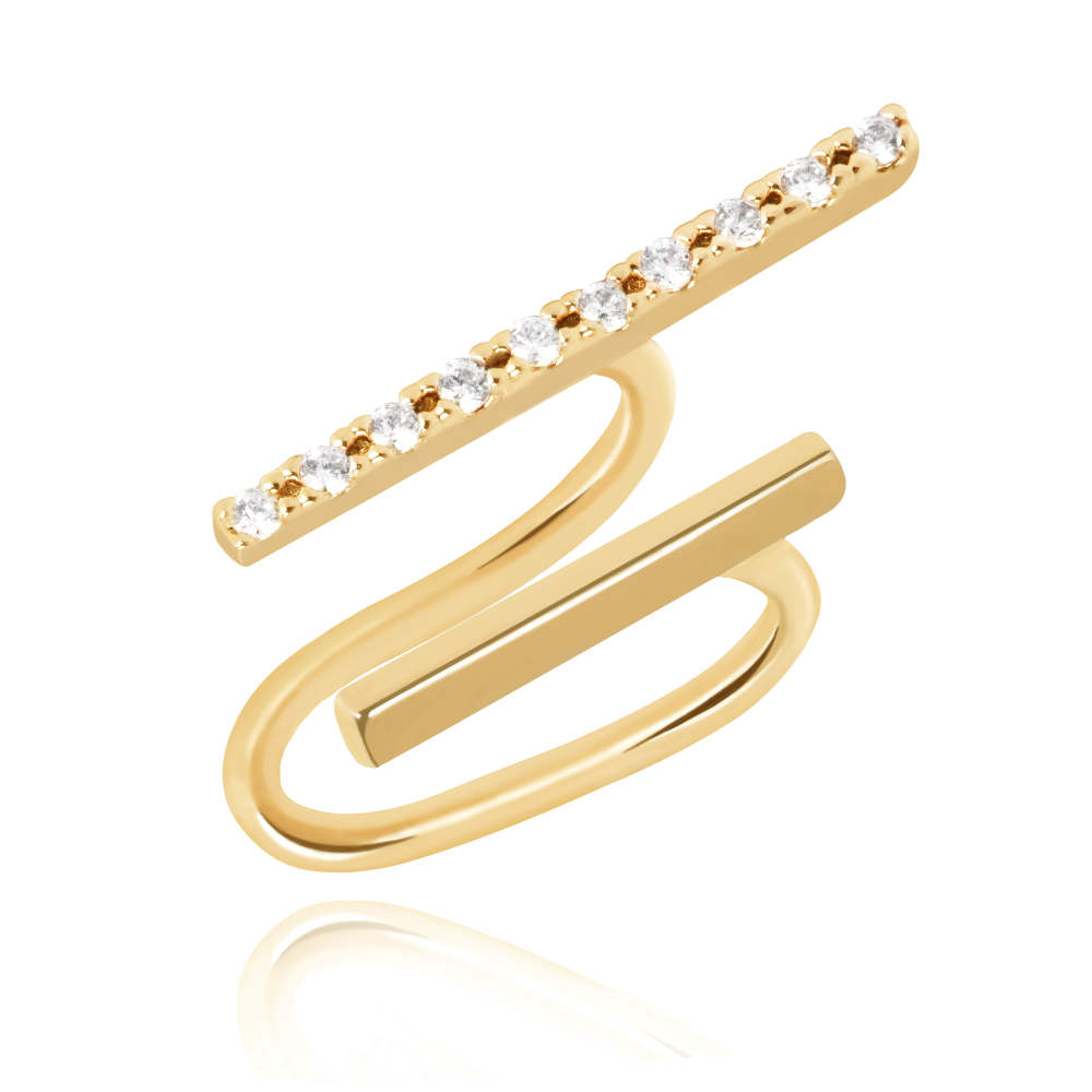 Astrid & Miyu - Two Timer Ear Cuff - Gold