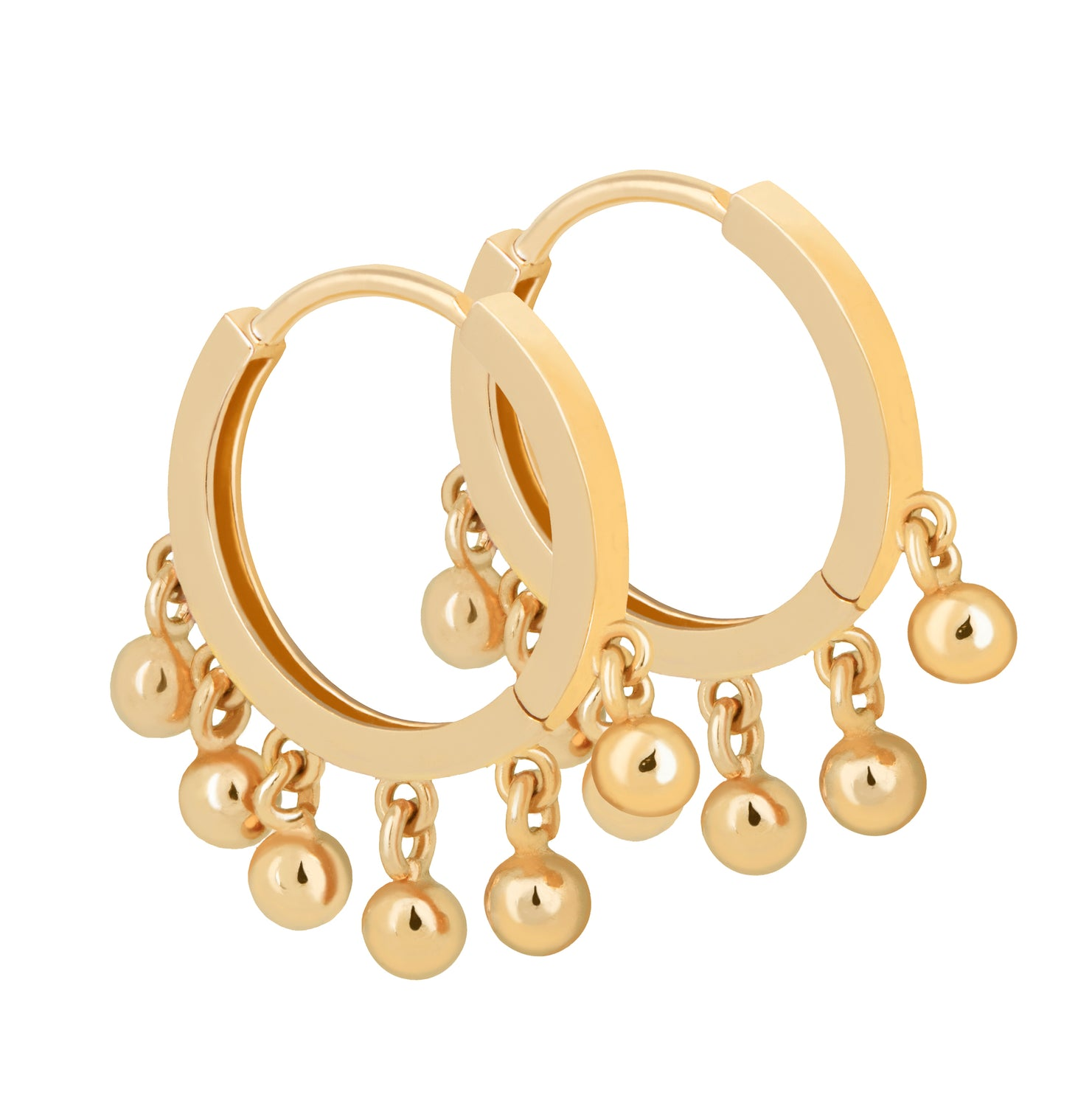 Astrid & Miyu - Mystic Ball Charm Hoops Earring - Gold