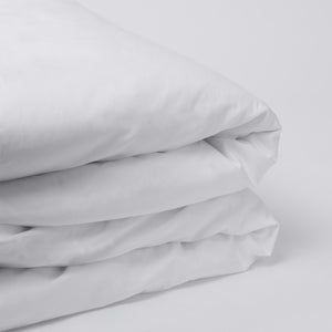 American Made 100% Cool Flow Cotton Duvet Cover - Pure White