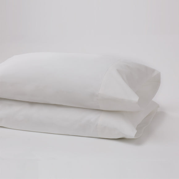 American Made 100% Cool Flow Cotton Pillowcase Pair - Pure White