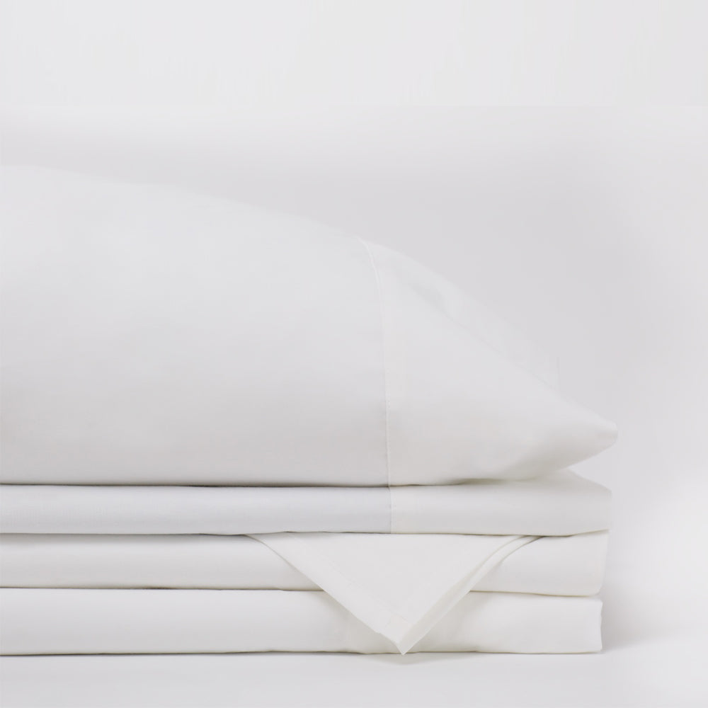 American Made 100 Cool Flow Cotton Sheet Set Pure White