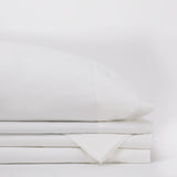 American Made 100% Cool Flow Cotton Sheet Set - Pure White