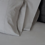 American Made 100% Cool Flow Cotton Memory Foam Fitted Sheet Set - Silver Smoke
