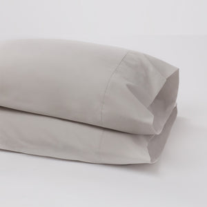 American Made 100% Cool Flow Cotton Pillowcase Pair - Silver Smoke