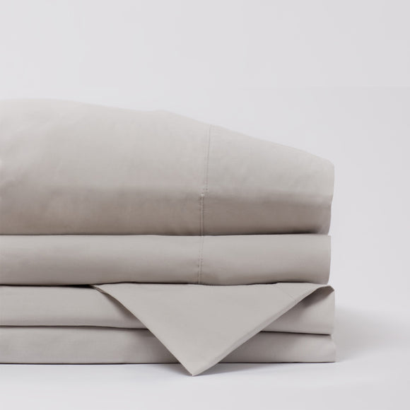 American Made 100% Cool Flow Cotton Sheet Set - Silver Smoke
