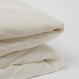 American Made 100% Cool Flow Cotton Duvet Cover - Soft Ivory