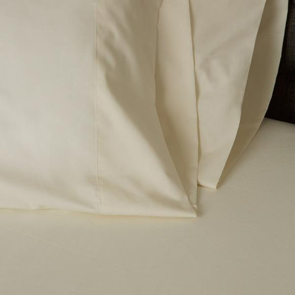 American Made 100% Cool Flow Cotton Pillowcase Pair - Soft Ivory