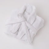 American Made 100% Cool Flow Cotton Robe - Pure White