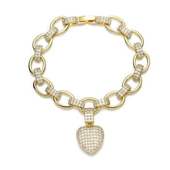 Adalyn Heart Shape Bracelet in Gold