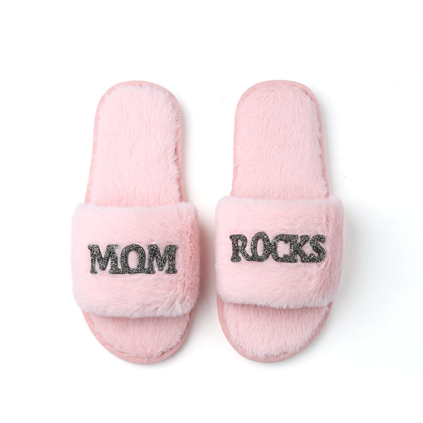 Mother's Day GLAMPERS! Light Pink MOM ROCKS