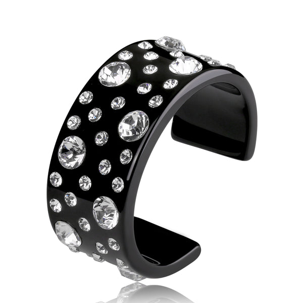 Aytan Black Floating Crystal Bracelet