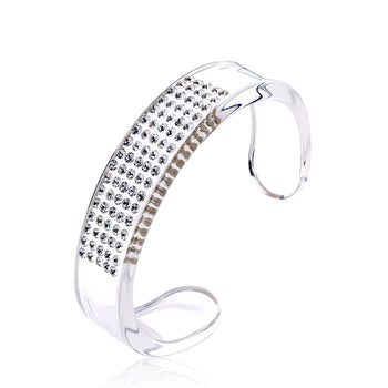 Gala Transparent Floating Crystal Bracelet