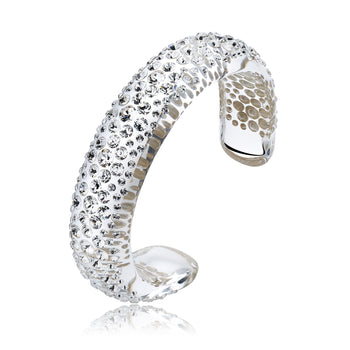 Jera Floating Crystal Bracelet with White Crystals