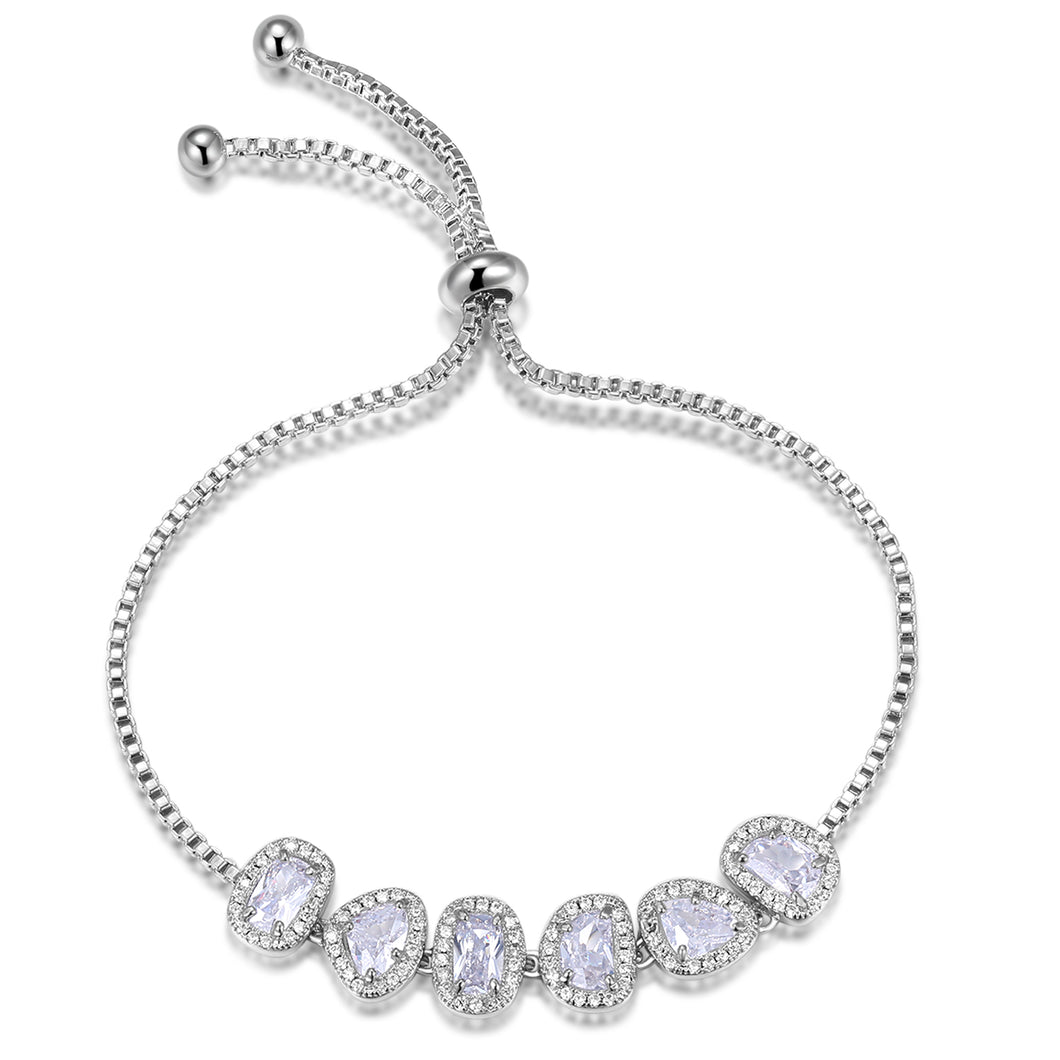 Althea Transparent White Adjustable Bracelet