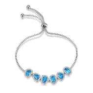 Althea Sea Blue Adjustable Bracelet