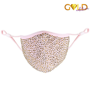 DESTINY GOLD CRYSTAL FACE MASK - PINK