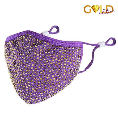 DESTINY GOLD CRYSTAL FACE MASK - PURPLE