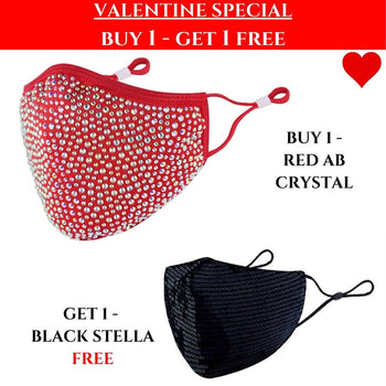 VALENTINES SPECIAL: 1 Destiny Red with AB Crystal & Get a Black Stella FREE