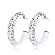 Kesla Transparent Floating Crystal Hoop Earrings