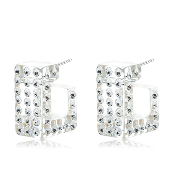 Gasira Transparent Floating Crystal Earrings
