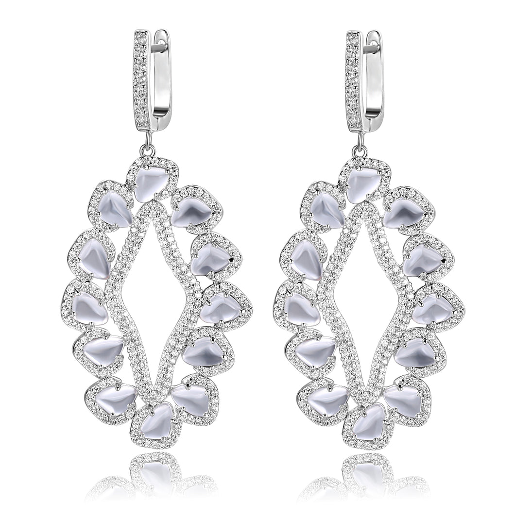 Davine Earrings in Crystal Clear