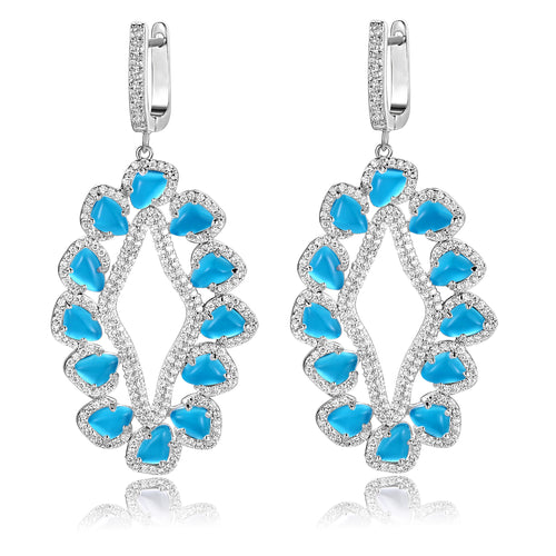 Davine Earrings in Sea Blue