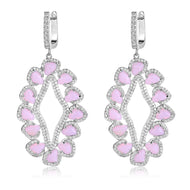 Davine Earrings in Light Pink