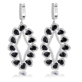 Davine Earrings in Black