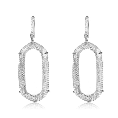 Adelia Earrings with Clear Crystal