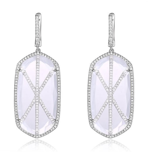 Valda Earrings with Clear Crystal