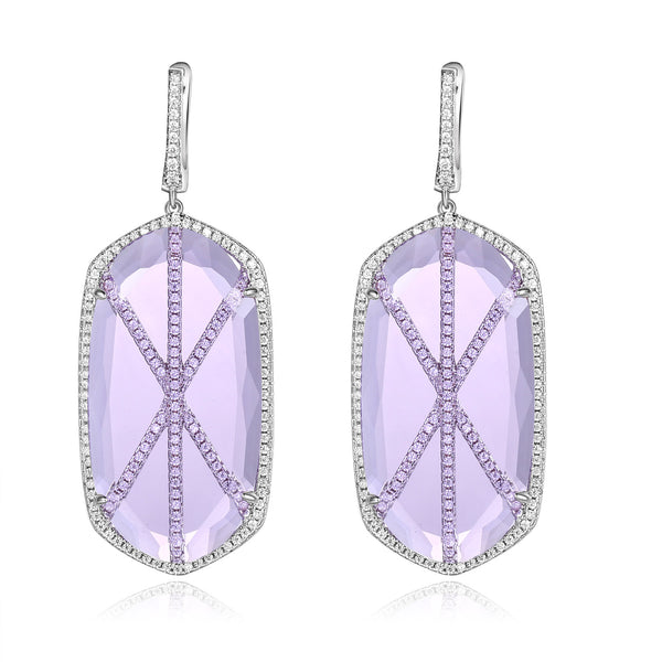 Valda Earrings with Light Purple