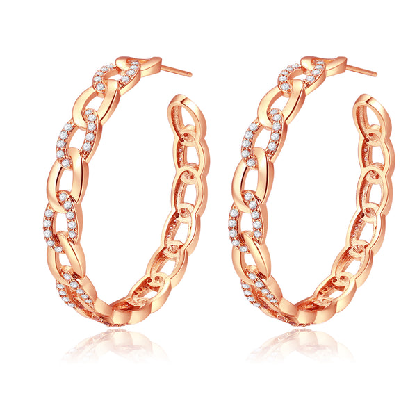 Britney Rose Gold Hoop Earrings