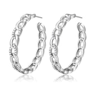 Britney Silver Hoop Earrings