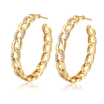 Britney Gold Hoop Earrings