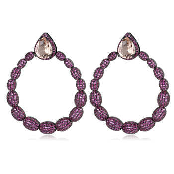 Brisa Fuchsia Ladies Earrings