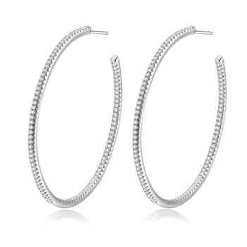 Lucy Silver Hoops