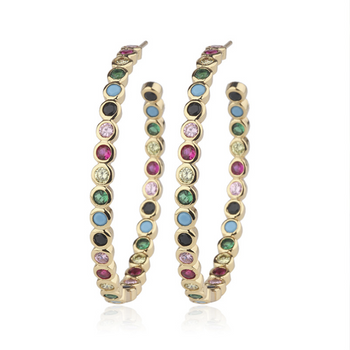 Evelyn Colorful Hoop Earrings
